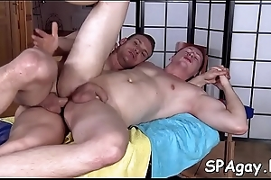 Sensual with the addition of hot massage set-to of marvelous twinks