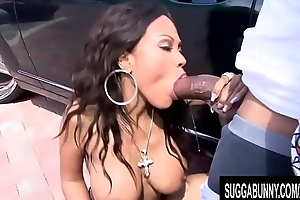 Busty Ebony Lacey Du Valle Shakes Her Ass added to Rides BBC