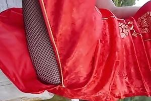 japanese crossdresser qipao stockings