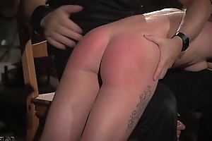 Teen slave takes rough kinky punishment from her bondage master