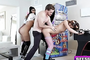 Arcade Cuties enjoying this guys long streak making them so wet!