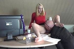 Boss licking bawdy cleft of secretary and sex with their way