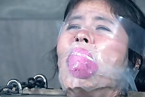Asian fetish bitch tickled hooves in foot fetish and licked hooves until hawt moanings and skint orgasm