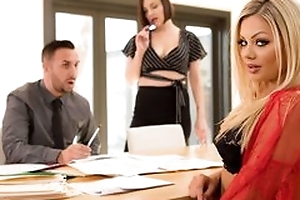 Nice awesome milf with blonde hair does blowjob, stickcing cock deep in say no to throat, fucked in tyrannical hardcore sex movie and spunk flow