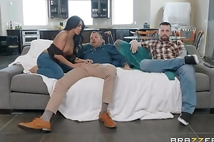 Tanned Asian girl fucks her hubby's join up right in front of him