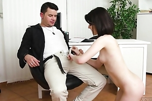 Dark-haired cutie with natural confidential does anal with a of the first water pleasure