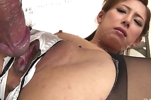 Japanese office babe receives screwed hard through the hole upon their way panties