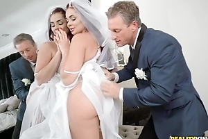 Intimidated pencil fucks his daughter-in-law before wedding