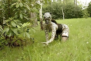 Nasty catwoman in mask gets gang banged well-intentioned