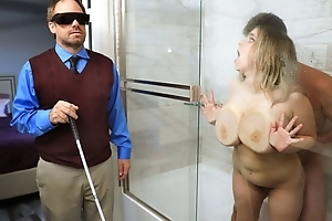 Chubby slattern with saggy tits cheats on the brush stone-blind hubby