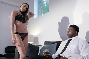 Horn-mad black dude with a huge dick assfucks his personal assistant