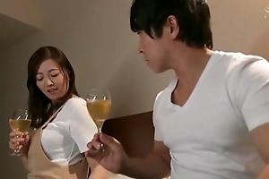 Beautiful Asian housewife gets an intense cookie pounding