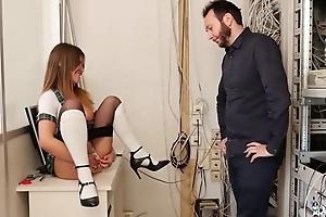 Teeny-weeny schoolgirl get sodomized by horny designing