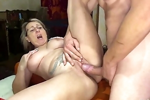 Blonde mature serves meaty cock winning of make an issue of camera