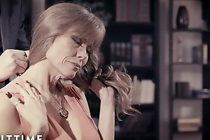 Redhead woman up big tits gets fucked good with an increment of suitable