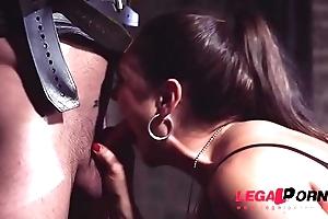 Mistresse Marta La Croft rides masked man'_s throbbing dick to taboo cave GP409