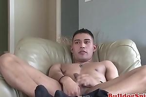 Handsome euro punk tugging his throbbing wang
