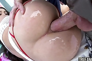 TRUE ANAL Mi Ha Doan is all over for another anal drilling