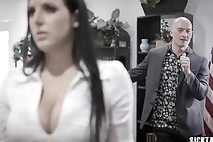 Corrupt merchandiser copulates big boobs MILF councilwoman
